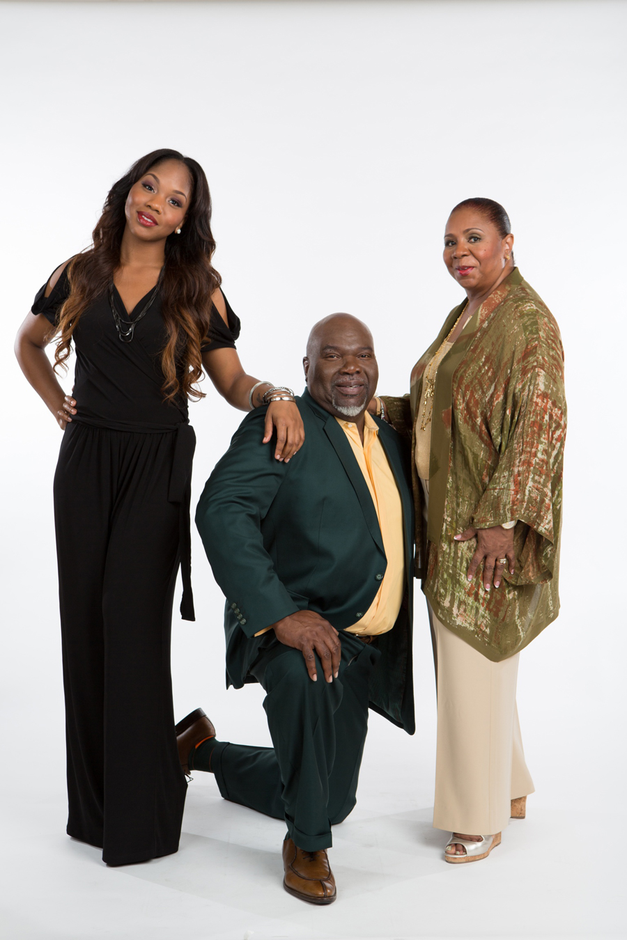 Sarah Jakes with Father(T.D.Jakes) and Mom(Serita Jakes)